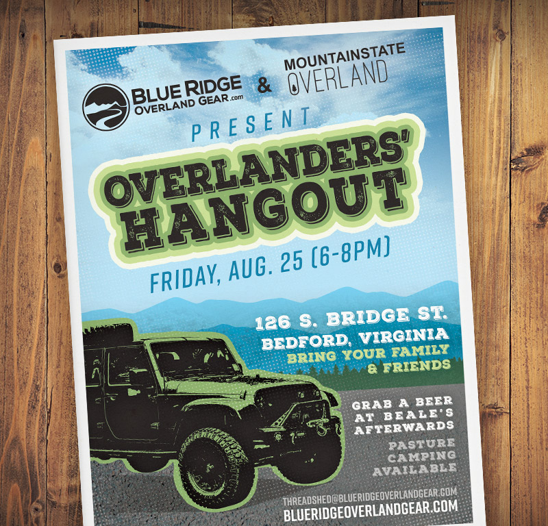 Join us for the next Overlanders' Hangout at BROG headquarters!