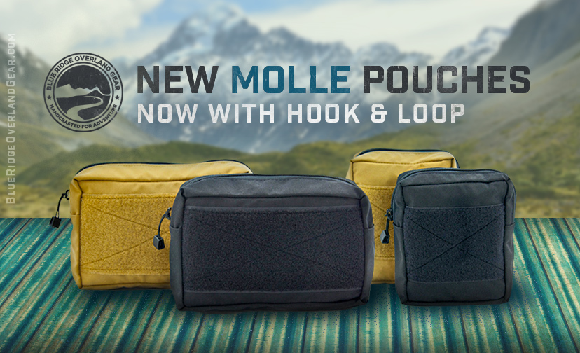 New MOLLE Pouches - Now with Hook and Loop — Blue Ridge Built