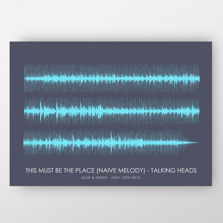 Jando Design Soundwaves Prints ($27)