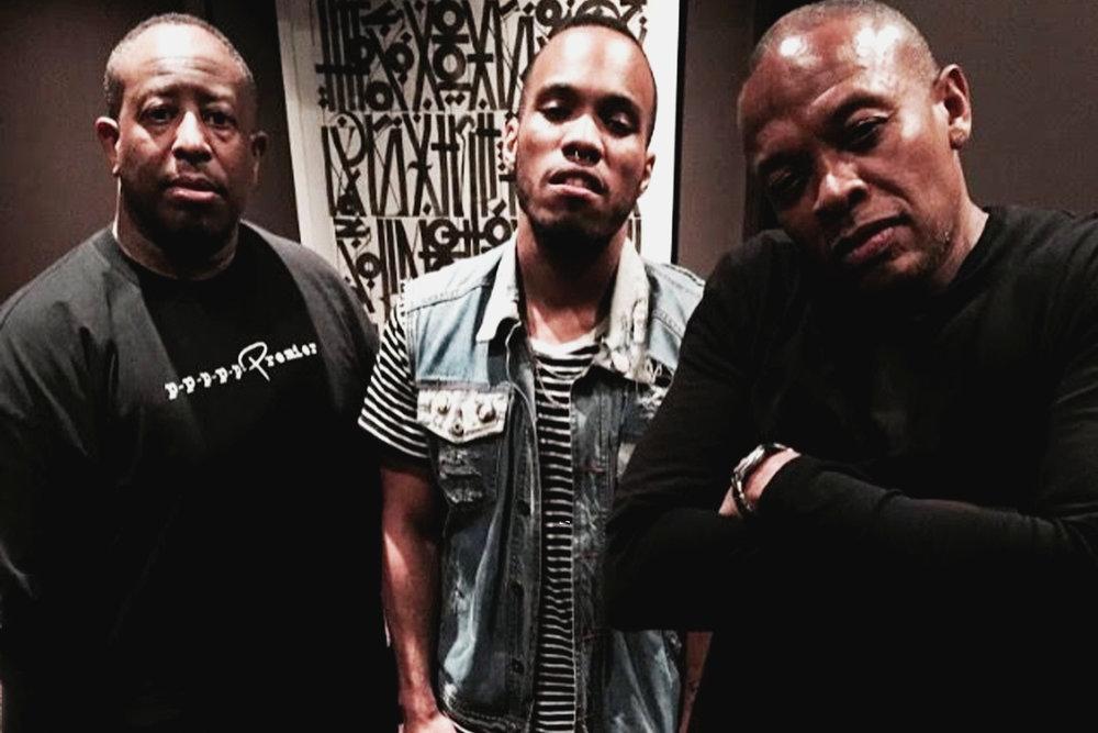 DJ Premier, Anderson .Paak и Dr. Dre.