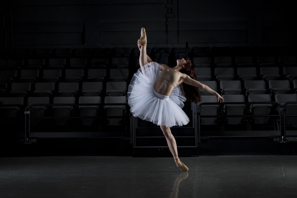 Photo by Sara Rubinstein.  Dancer:  Laurie Nielson of James Sewell Ballet
