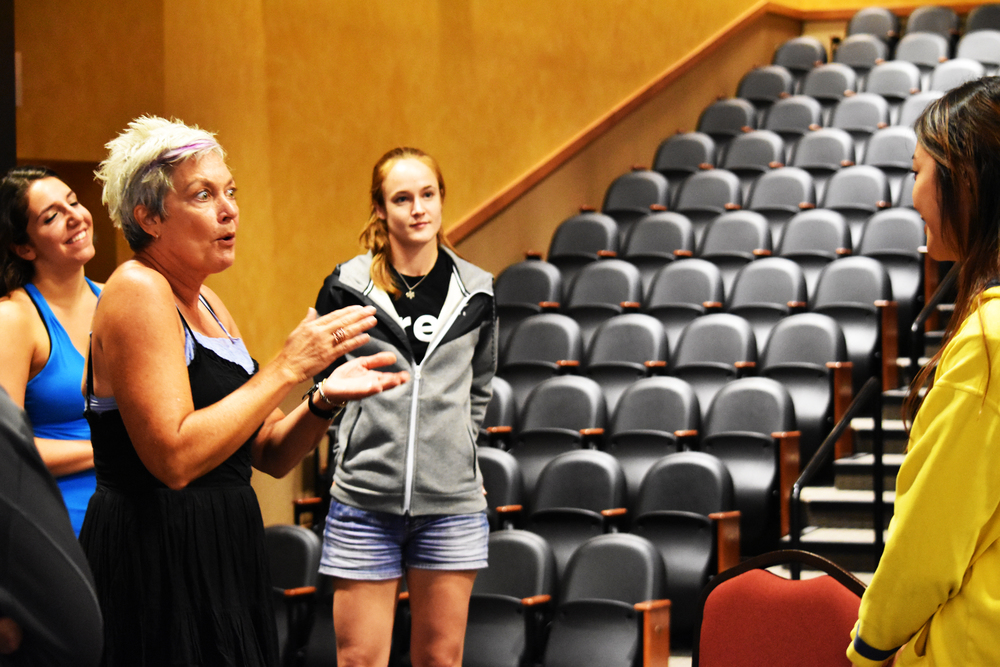 "Tony-Winner Michele Pawk leads her annual session ""Acting Through Song"" at the Big Sky Theater Workshop of 2016."