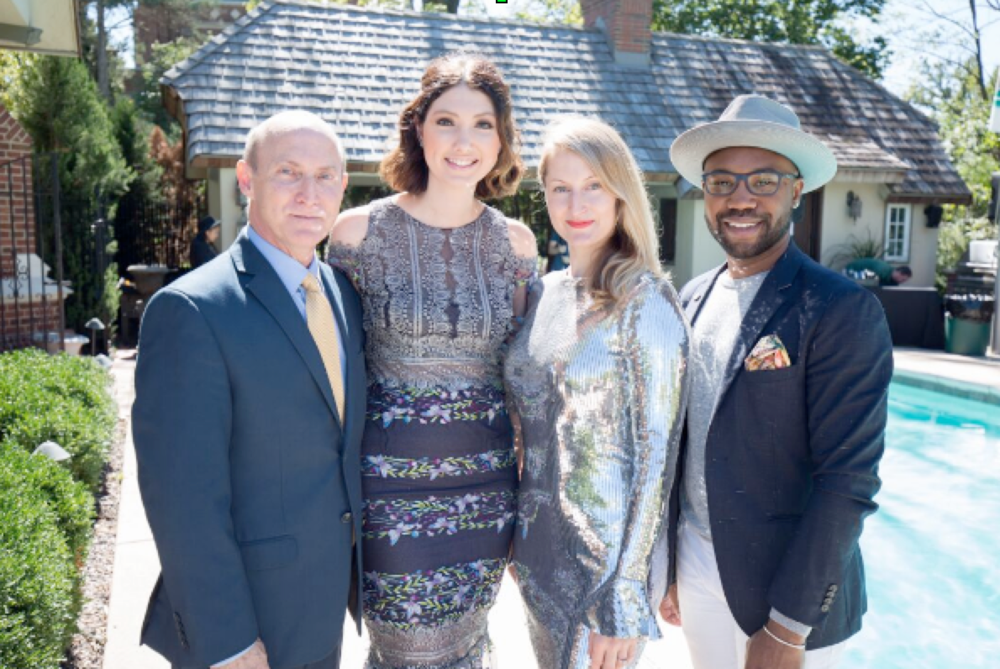 Left to Right: Phil Willoughby (CEO of KCFW), Teisha Barber (President of KCFW), Jennifer Lapka Pfeifer (Founder and President of Rightfully Sewn) and Brian Kennedy (Grammy Award Winning Songwriter)