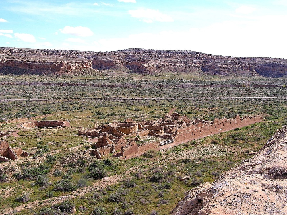 "Chetro Ketl, a Chacoan ""great house"", at Chaco Culture National Historical Park."