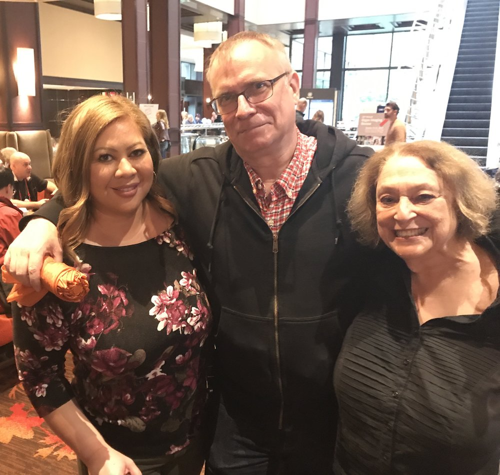 Me with my editor Keith Kahla (St. Martin's Press)and my agent Victoria Skurnick (Levine Greenberg Rostan).