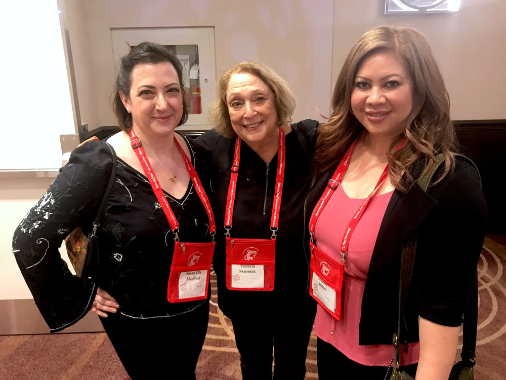With Susan Elia MacNeal and our agent, Victoria Skurnick (Levine Greenberg Rostan).