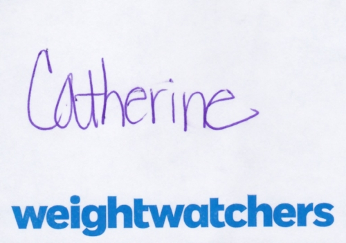 Catherine Weight Watchers Nametag.jpeg