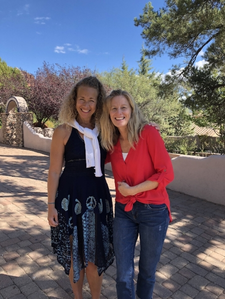 Elizabeth with our business coach, Leisa Peterson, in Sedona, Arizona.