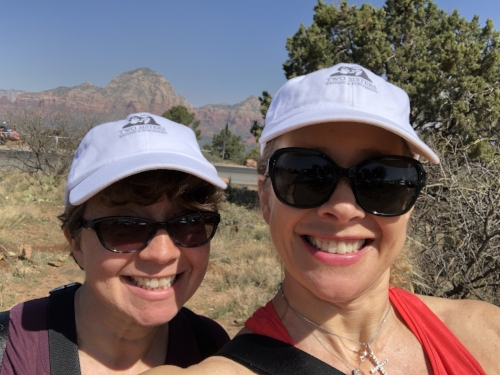 Catherine and Elizabeth at the Airport Vortex in Sedona, AZ, in April 2018.