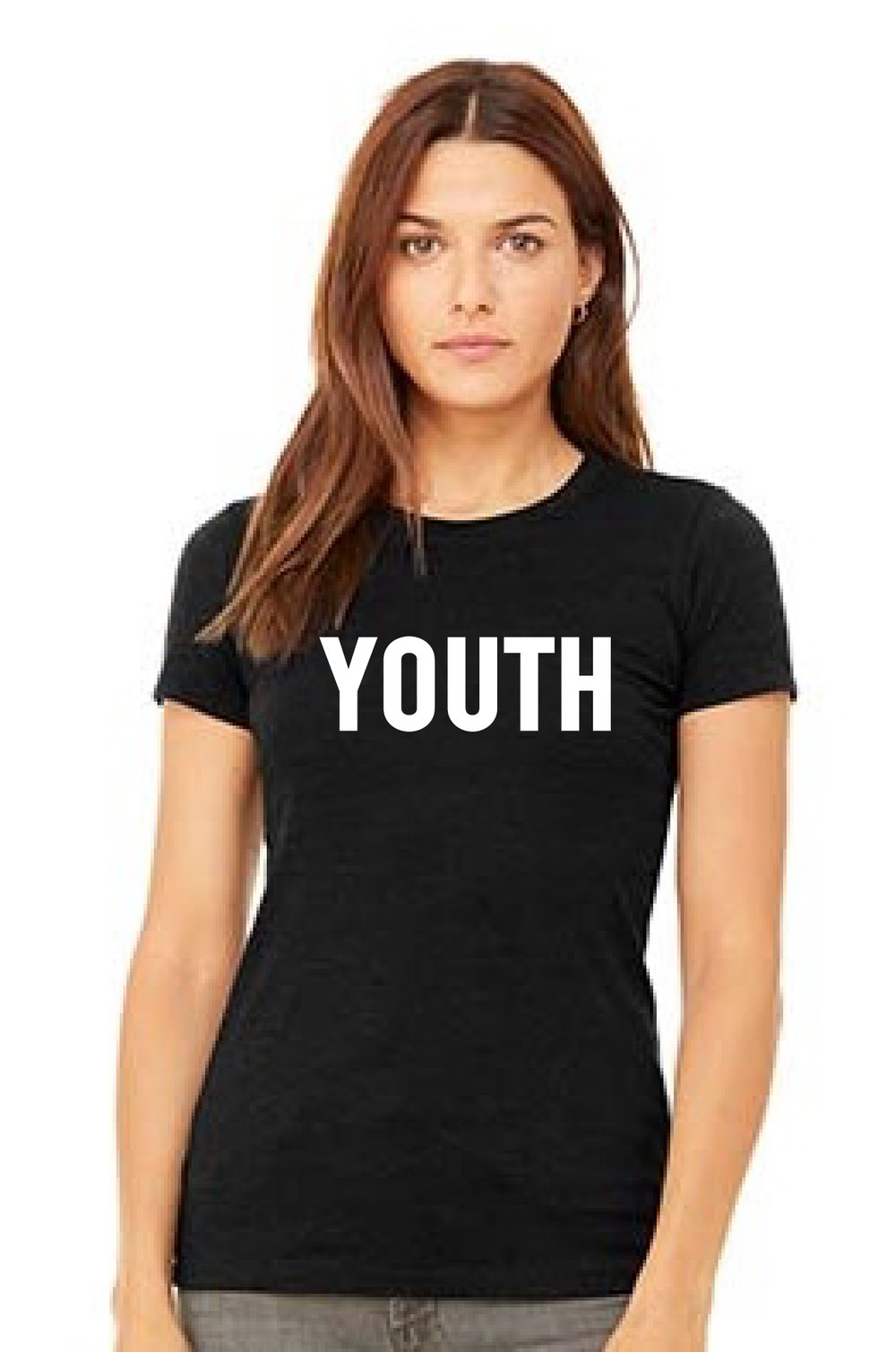 Bella Canvas Favorite T in 100% cotton. white YOUTH Print. Starting at $ 19.95. BUY ON AMAZON NOW. https://www.amazon.com/dp/B07D6WZ3DY