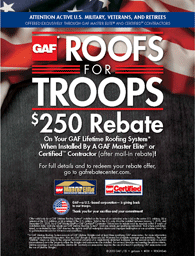 Excel Roofing loves our veterans!