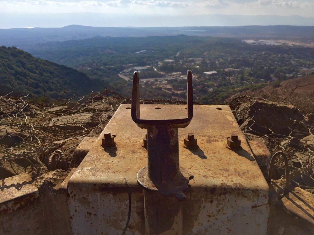 Once a machine gun turret in the Golan Heights
