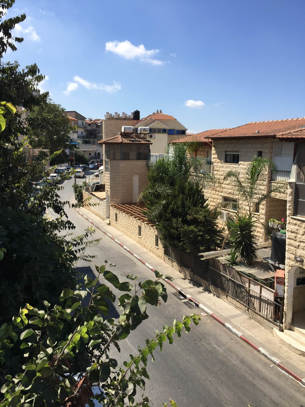 A view from outside the Rabbi Amichai's office in Tsfat