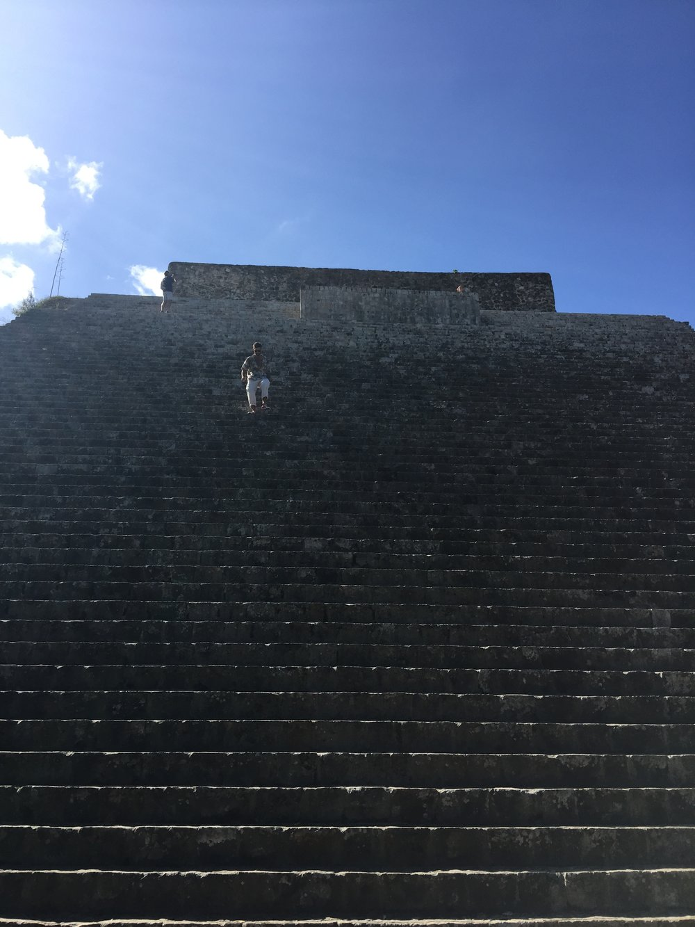 Scaling the pyramids of Uxmal