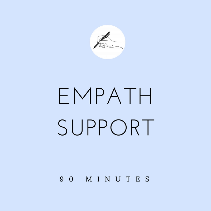 - Realizing you're an empath is amazing - you finally have a language for what always made you feel different.It can also be scary though, because with the label comes a lot of new (and rarely talked-about) information. Depending on your unique needs, through a 1-on-1 call, I will listen to your story and support you in:(a) identifying your unique intuitive abilities(b) building a self-care toolkit for clearing, grounding and protecting your energy(c) centering in on your life purposeEmpaths are incredibly intuitive and you'll know when reading this if this stream is for you.When the student is ready, the teacher appears.What is included:1 x 90-minute callFollow up e-mail with conversation notes + list of tools/resources/