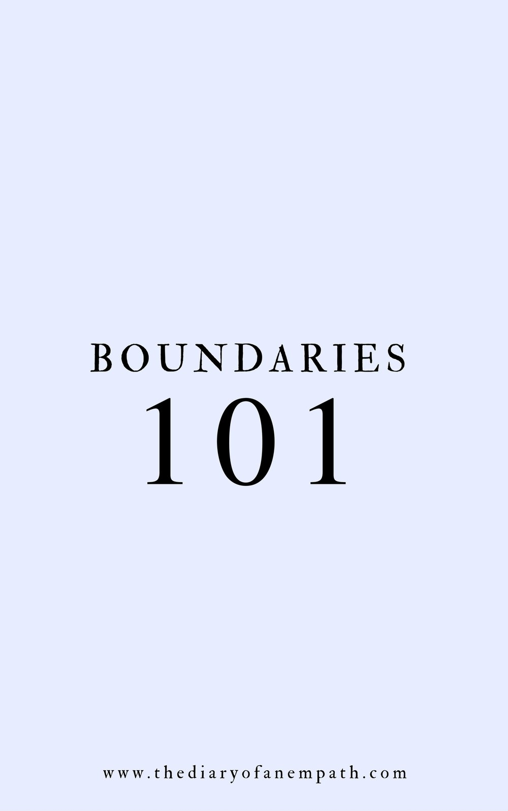 how to set boundaries, thediaryofanempath.com