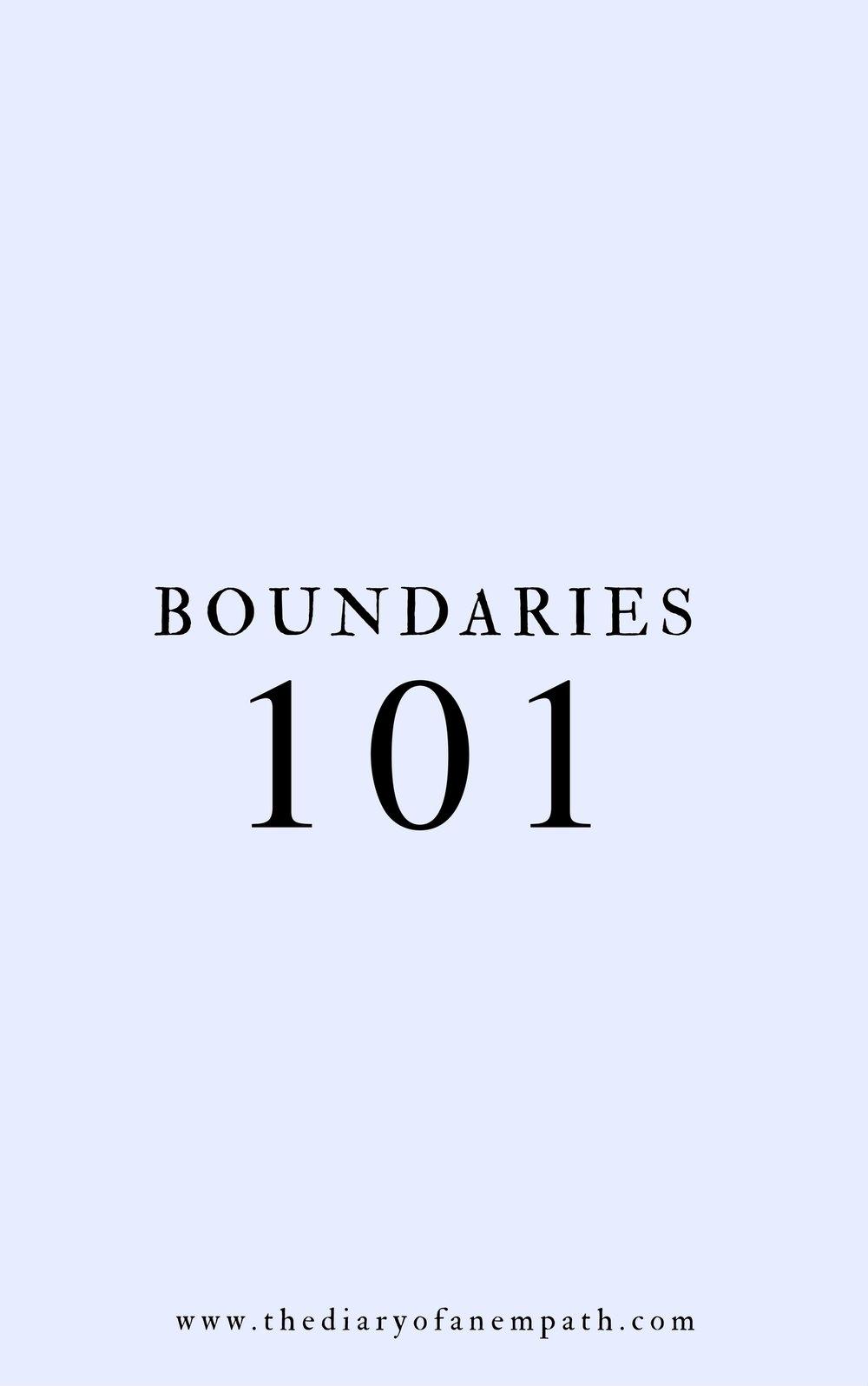 how to set boundaries, thediaryofanempath.com