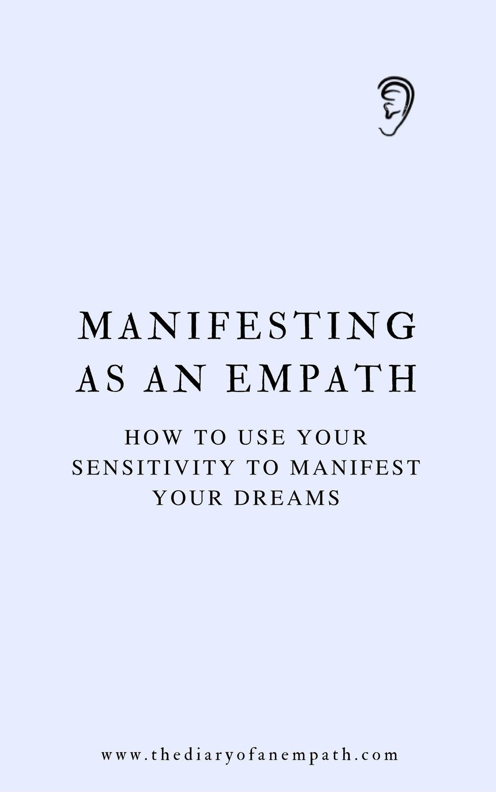 manifesting as an empath, thediaryofanempath.com