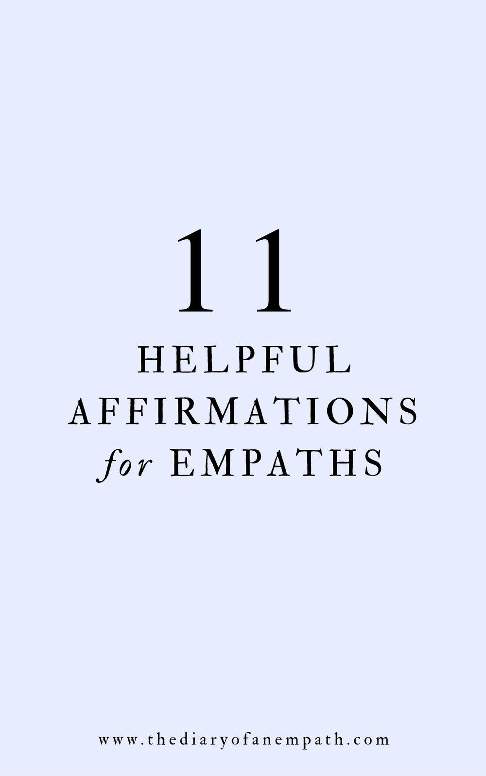helpful affirmations for empaths, thediaryofanempath.com