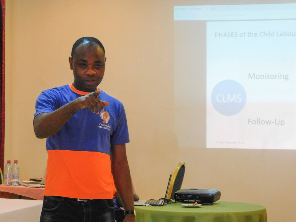 CRI Executive Director Bright Appiah leads a training session