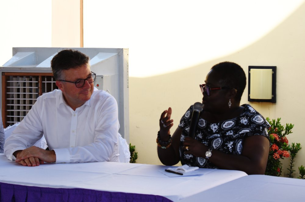 Mondelez International Europe President, Hubert Weber, with Ghana County Lead, Yaa Peprah Agyeman Amekudzi