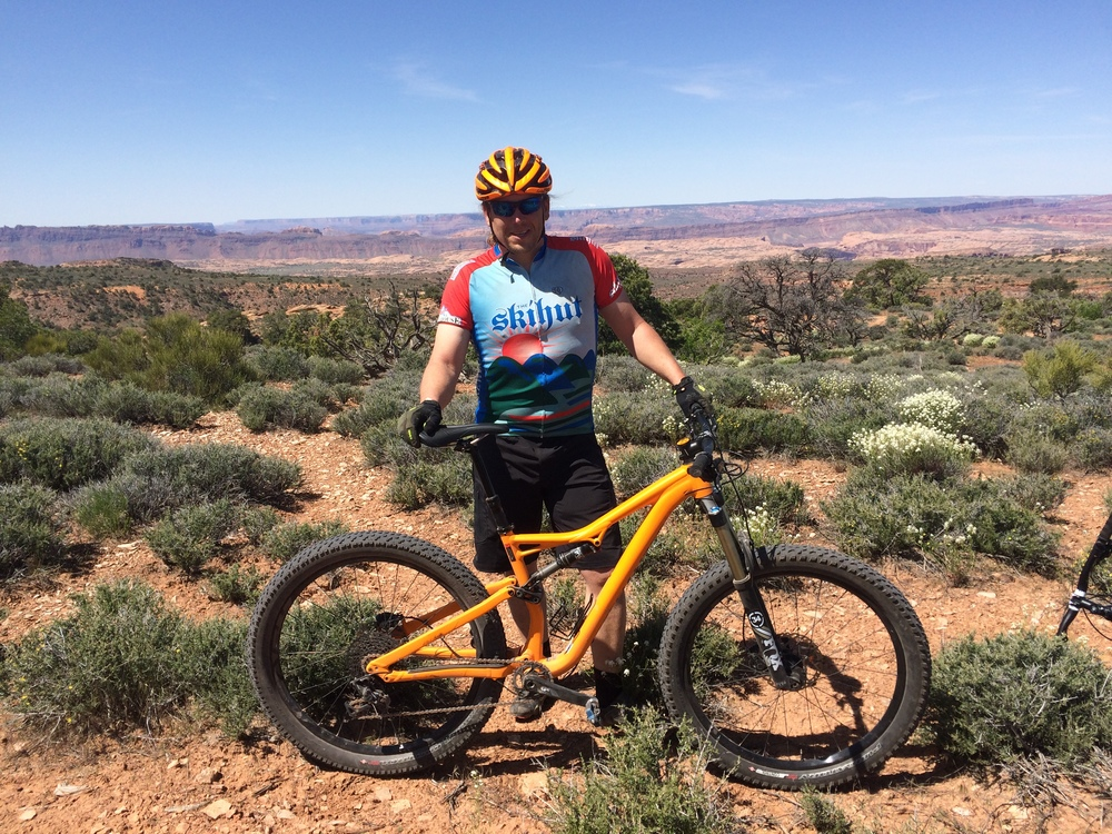 Matt riding mountain bike in Utah.