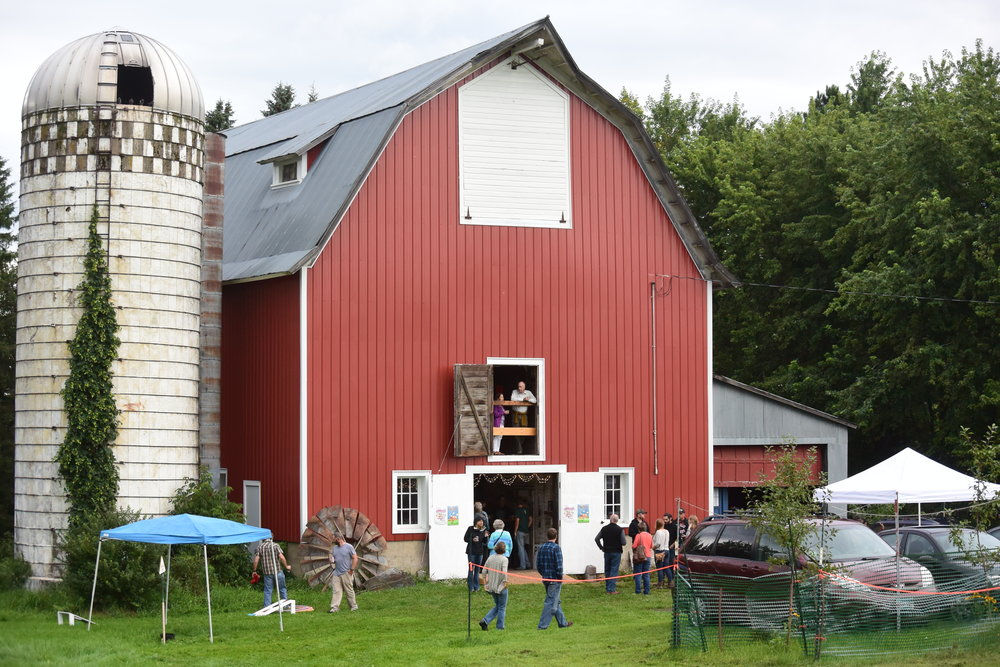 Free Range Film Festival Barn in Wrenshall MN, where Farm Fest 2016 was held. This barn recently turned 100 years old!