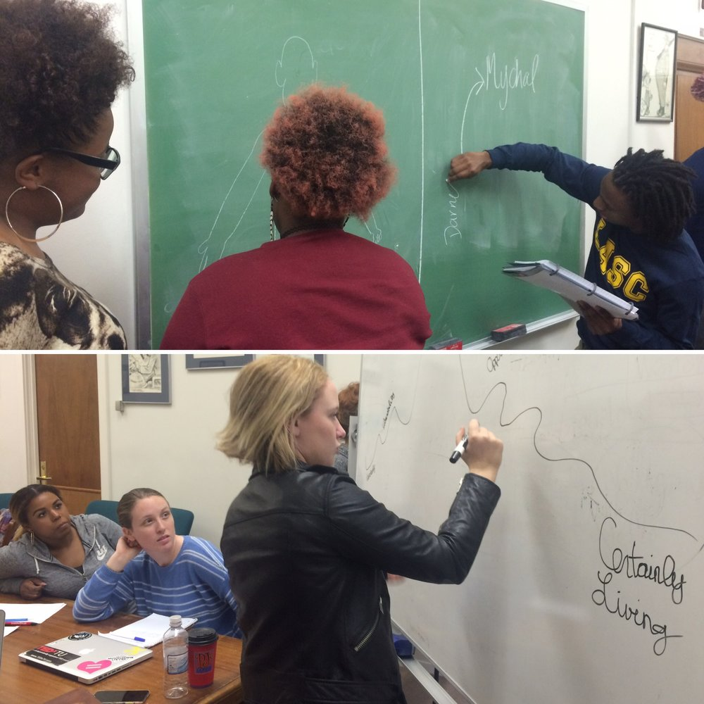 Students as knowledge producers, mapping a theory of race and masculinities across texts.