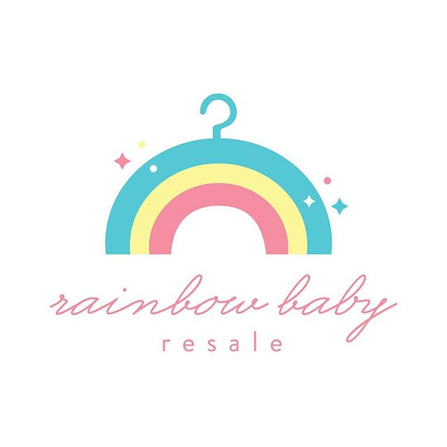 A logo design I recently created for a VERY special client of mine! @rainbowbabyresale is an event based resale shop specializing in gently loved baby, toddler and children's clothing. They focus on sustainability and even more importantly, charitable giving. (A percentage of every sale is donated to women's and children's organizations.)❤️🧡💛💚💙💜