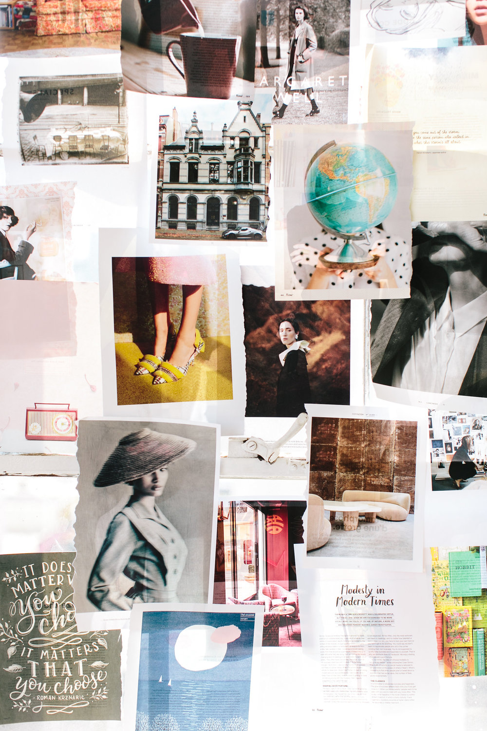 Create a vision board to help you inspire your next project creation.
