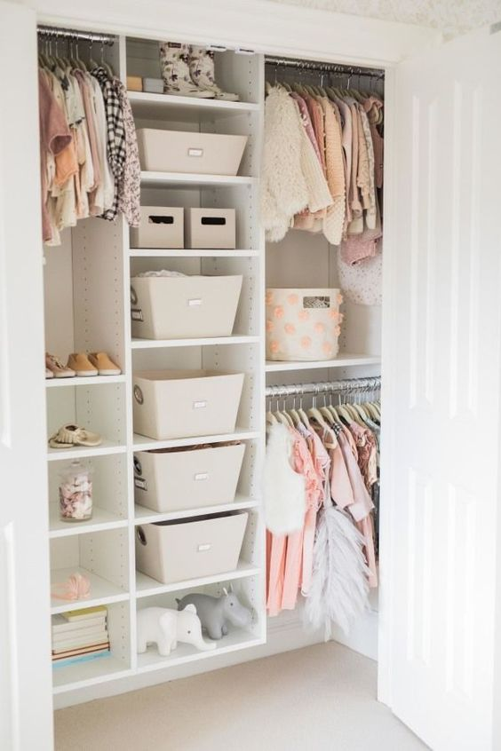 Organized Closets are key  Image Source: Style Me Pretty