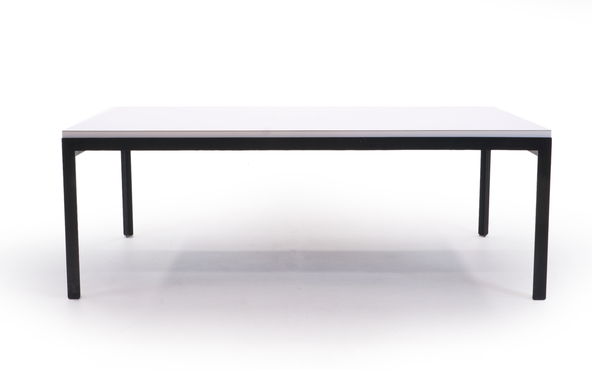 Florence Knoll Coffee Table White Laminate Black Steel Frame