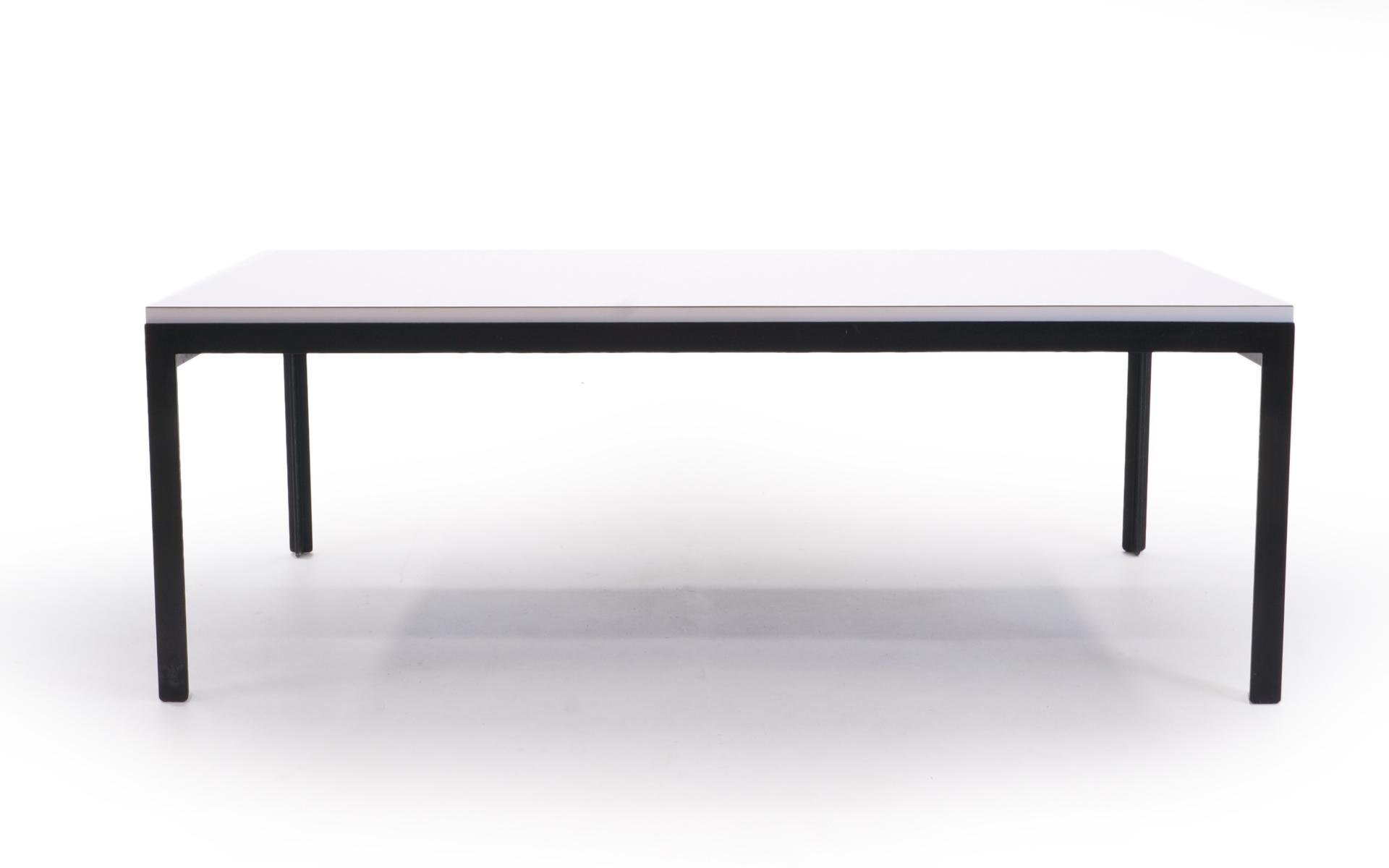 Florence Knoll Coffee Table, White Laminate, Black Steel Frame U2014 RETRO  INFERNO