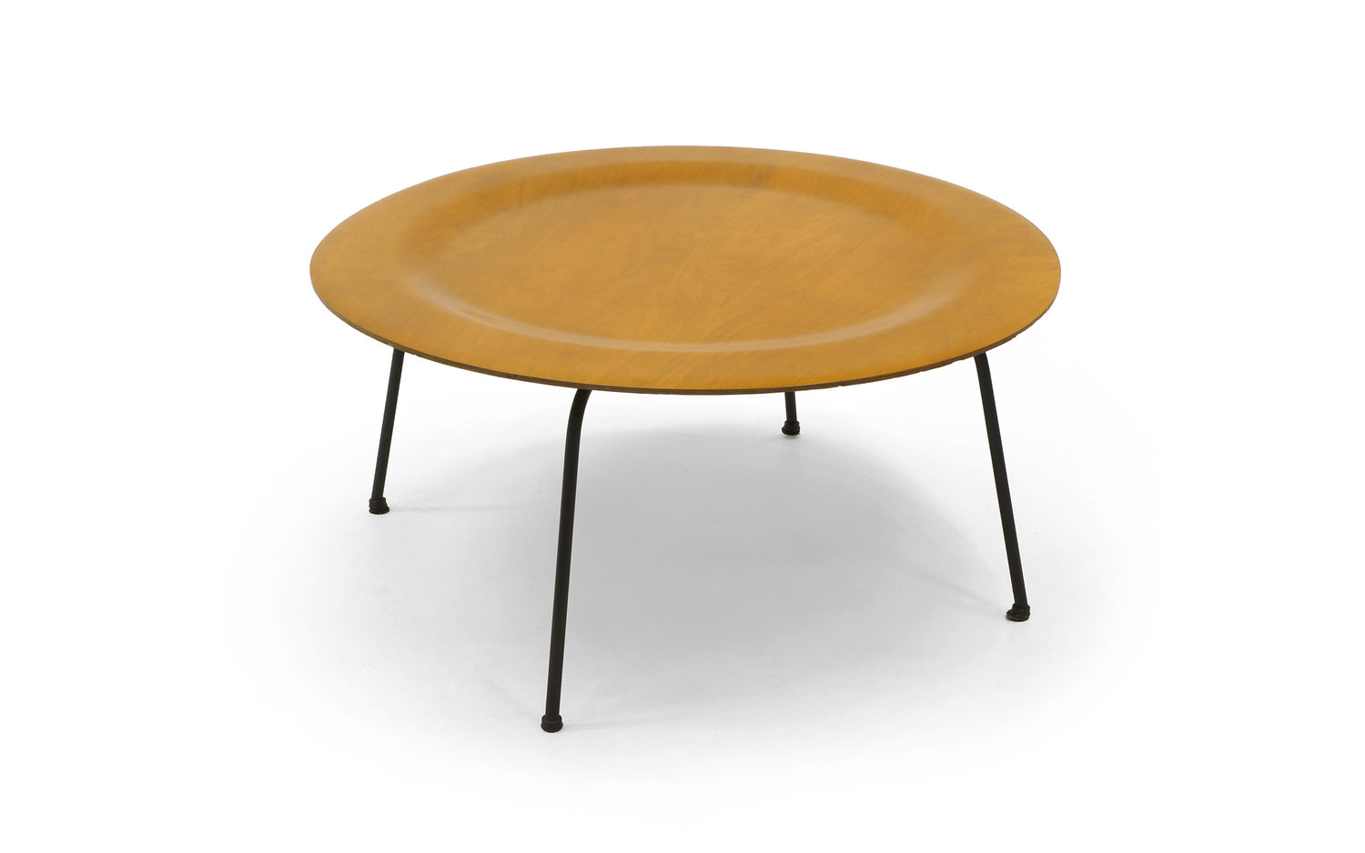 Early Second Generation Eames Ctm Coffee Table Metal Legs Expertly Restored