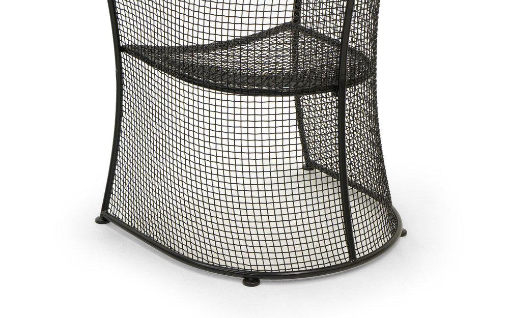 Russell Woodard Woven Wire Mesh Outdoor Patio Table And Four Chairs Restored