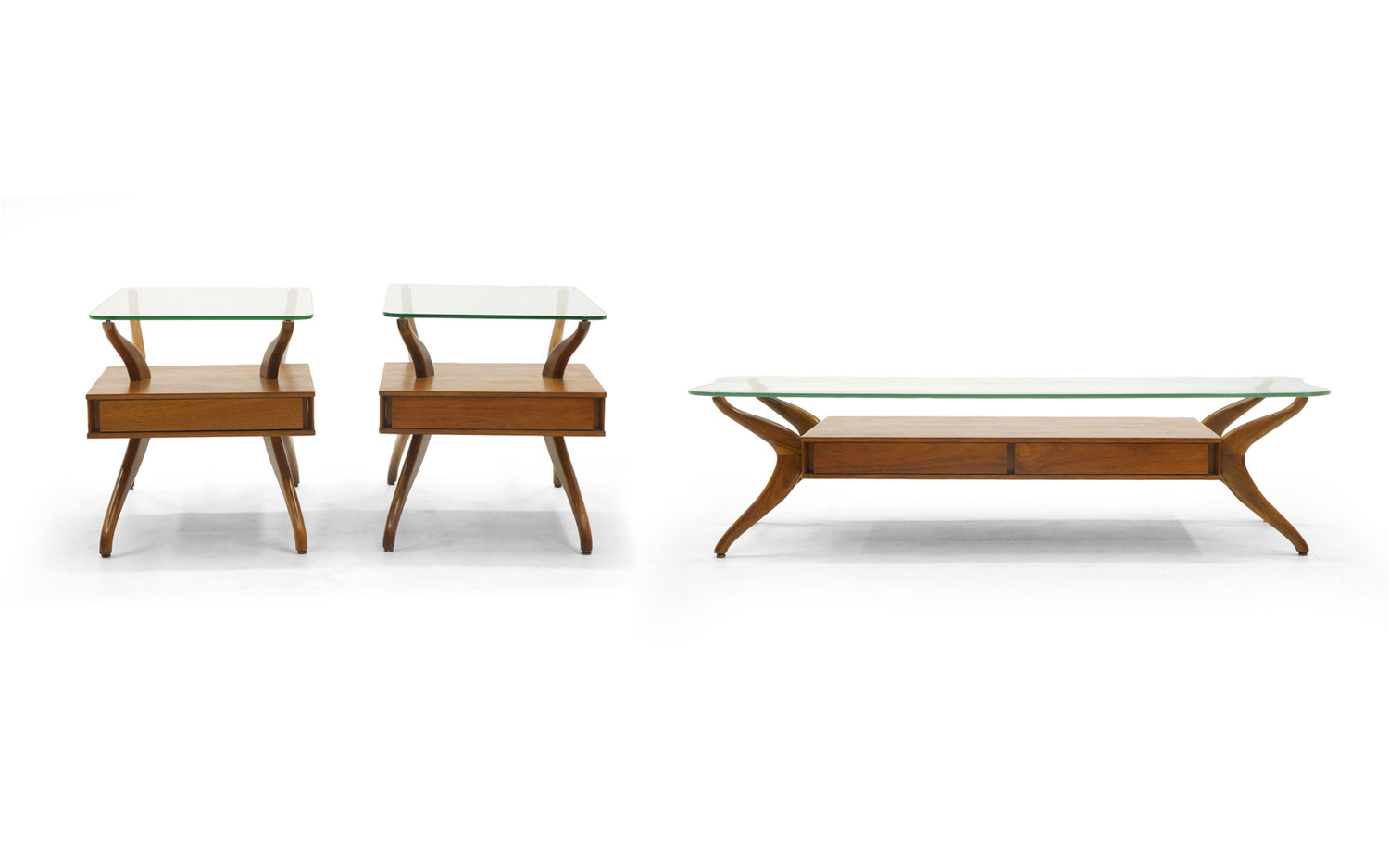 Kagan Coffee Table.Sculptural Coffee Table And Two End Tables In The Style Of Vladimir Kagan Retro Inferno