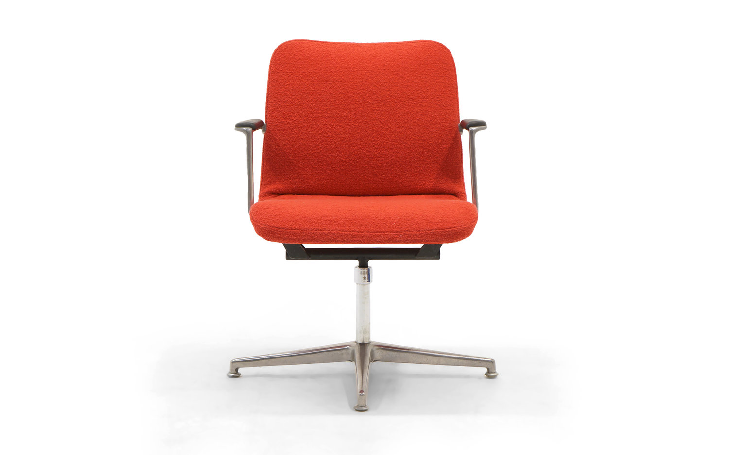 George Nelson Desk / Office Chair. Very Rare. New Red Boucle Knoll  Upholstery. — RETRO INFERNO