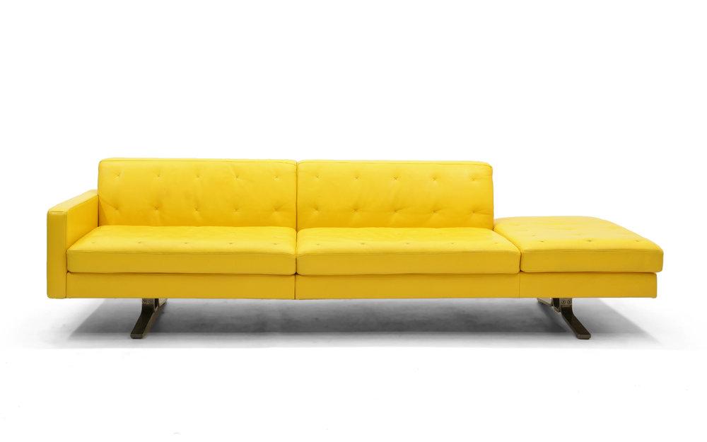 Yellow Leather Sofa By Jean Marie Massaud For Poltrona Frau One Arm,  Beautiful