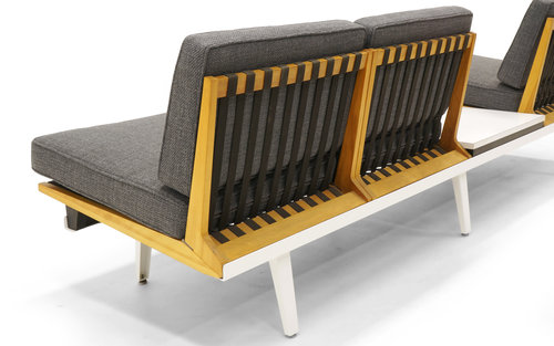 george nelson bench. Steel Frame Sofa, Bench And Coffee Table By George Nelson For Herman Miller