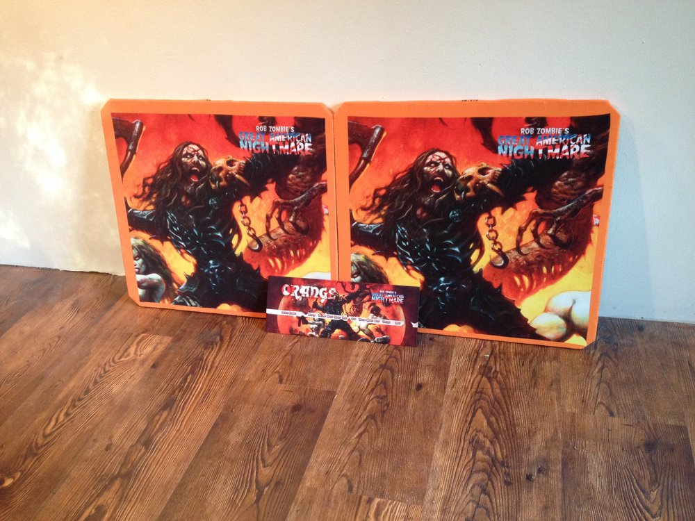 Orange 412 Custom Grill Cloth | Rob Zombie