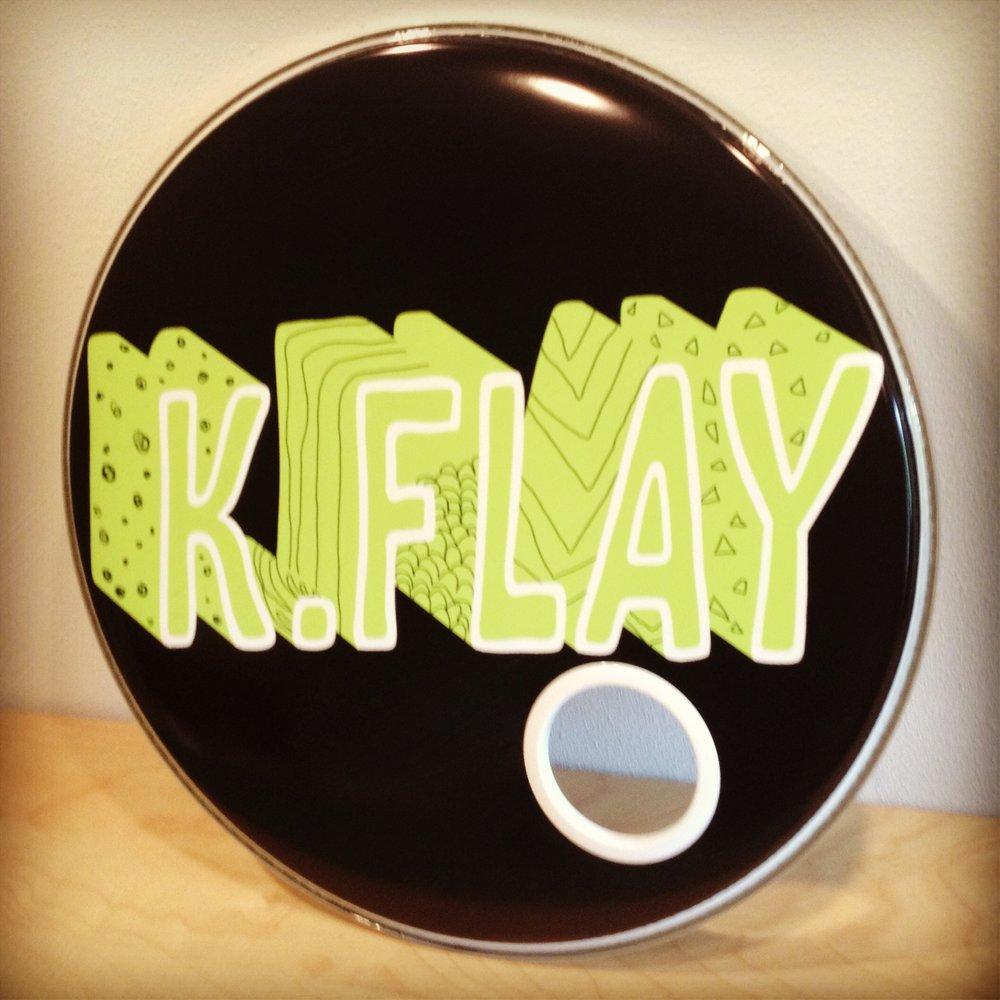 "22"" Custom Drumhead | K. Flay"