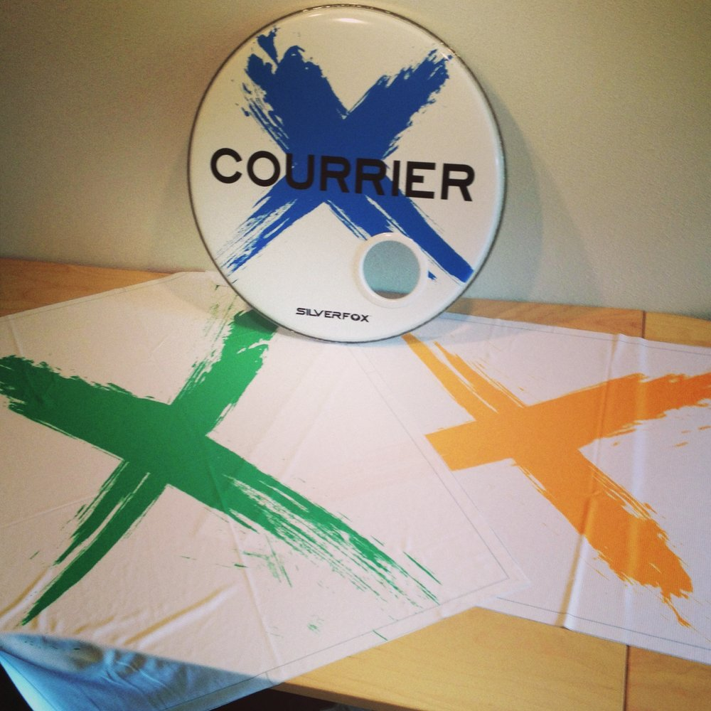 Custom Grill Cloth & Drumhead | Courrier