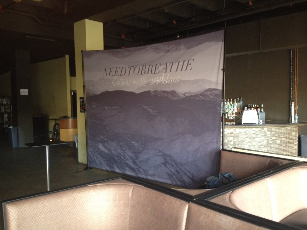 10' x 12' Canvas Meet & Greet Scrim | Needtobreathe