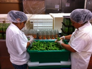 Prepping okra for Rick's Picks Smokra.