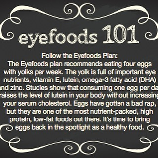 Eggs are an important Eyefood! #CWE #Healthyeyes #eyefoods