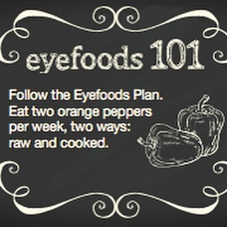 Orange peppers are a great Eyefood! #CWE #Healthyeyes #eyefoods