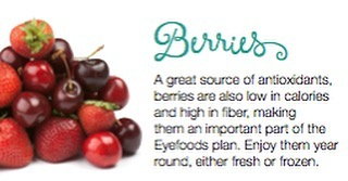 Berries are a great source of antioxidants! #eyefoods #Healthyeyes #CWE