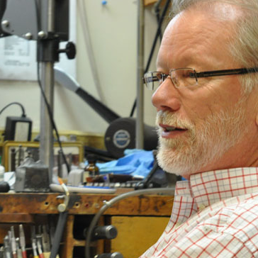 Brad Mathews; Owner and Master Goldsmith for over 35 years.