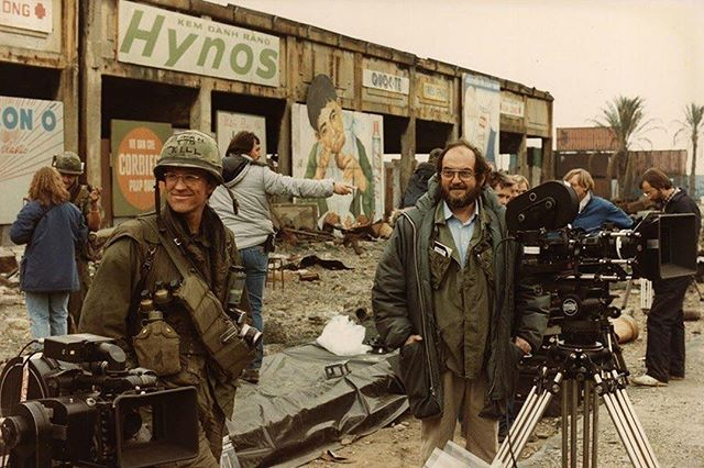 Full Metal Jacket (1987). Stanley Kubrick. Cinematography: Douglas Milsome #OldSchoolCool #fbf #MoviesInTheMaking #SetLife #ClassicFilm #StanleyKubrick #FullMetalJacket #LA #UnreelMedia #ProductionHouse #DigitalAgency