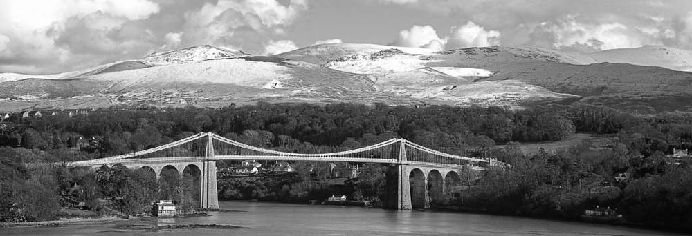 The Menai Suspension Bridge (Built in 1826 by Thomas Telford)